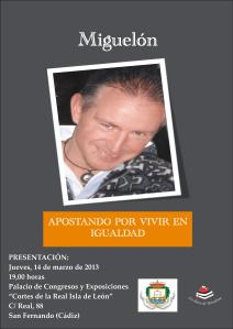 CARTEL PRESENTACIÓN MIGUELÓN PALACIO DE CONGRESOS SAN FERNANDO